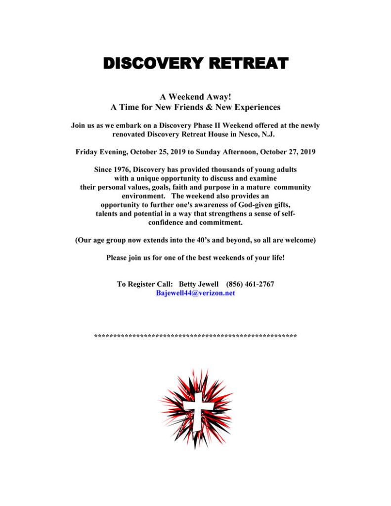 DISCOVERY RETREAT