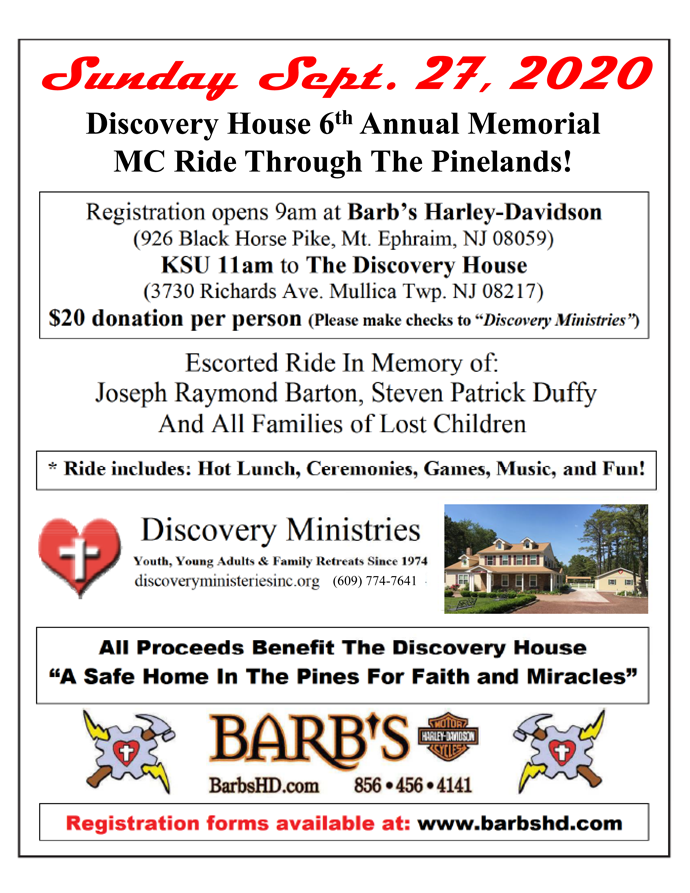 Discovery House 6th Annual Memorial MC Ride