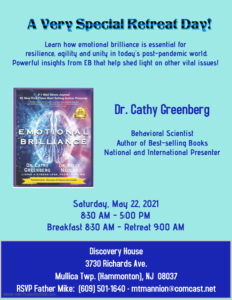 Emotional Brilliance Retreat with Dr. Cathy Greenberg 8:30am-5:00pm