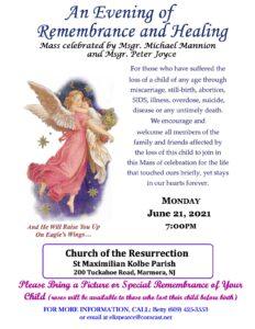 Mass of Remembrance & Healing – Monday, June 21, 2021 @7pm
