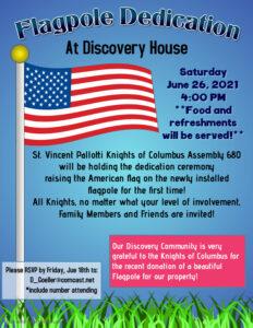 Knights of Columbus Flagpole Dedication – Saturday June 26, 2021 at 4:00 PM
