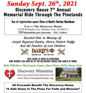 Memorial Ride Through the Pinelands Sunday September 26th , 2021